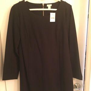 J. Crew black long-sleeved sheath dress